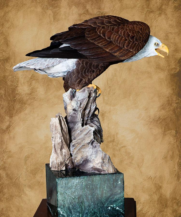 Floyd scholz master carver bald eagle carving quot vigilance